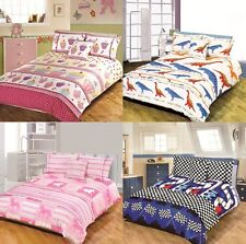 5pc Kids Design Bed in a Bag Bedding Duvet Quilt Cover Set in Single and Double