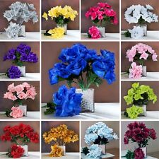168 Silk OPEN ROSES WEDDING Bouquets FLOWERS Centerpieces Wholesale Supplies