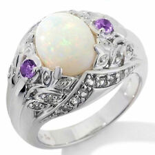 Victoria Wieck .43ct Opal, Amethyst and White Topaz Ring $295.00