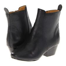 Nine West Women's Paperlane Black Leather Ankle Boot
