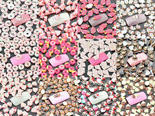 Nail Art Cell Phone Case Book Decoration x 100pcs (Pick 1 Out of 12 Styles) #863
