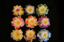 Foam Double Flower Plumeria Hair Claw Clip  Black Blue Yelllow Green Pink Purple