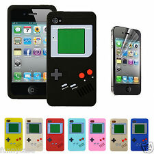 Gameboy Game Boy Silicone Case Cover for Apple IPHONE4 4S +Free Screen Protector