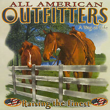 ALL AMERICAN OUTFITTERS HORSES A WAY OF LIFE RAISING THE FINEST SHIRT #1266