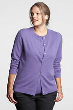 Land's End 100% CASHMERE 2-Ply Cardigan Sweater 1X Lavender or Pink Heather $200