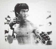 Bruce Lee  white t-shirt  martial artist, boxing, fist of fury, enter the dragon