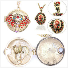 Vintage retro Art Deco style locket necklace multiple choices