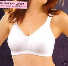 NEW EXQUISITE FORM Fully No Wire Cotton Bra 2540 WHITE