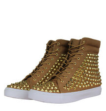Jeffrey Campbell Alva Womens Hi Top Trainers Tan/Gold
