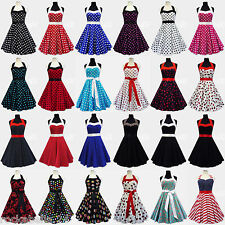 Rockabilly 50er Jahre Kleid Petticoat Polka Dot Leo Pin Up Abendkleid Karneval
