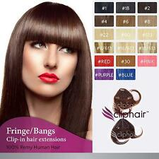 Clip in Remy Human Hair Extensions Fringe / Bangs
