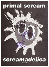 PRIMAL SCREAM Screamadelica FULLY SIGNED Autographed PHOTO Print POSTER 001