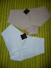 LA SENZA SIZE 16-18 NO VPL NUDE OR WHITE SHORT SELECT A COLOUR