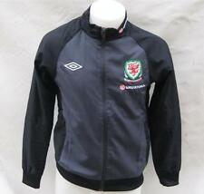 BNWT Umbro Wales Cymru Training Jacket Top Mens Black Grey RRP £45 AT £29.99