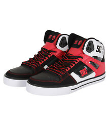 DC Shoes 303168 Spartan Hi WC SK Mens Trainers Black/White/Red