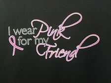 Wear Pink For My Friend Breast Cancer Awareness Item T-Shirt Tee Support Ribbon