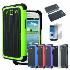 HybridHeavy Duty Rugged Hard Case Cover Samsung Galaxy S3 SIII i9300 TMobile ATT