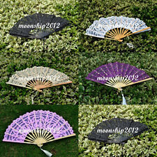 optional colors lace hand fan wedding party decoration photo cosplay