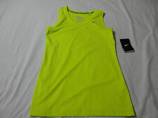 NIKE WOMEN'S NEW GREEN SLEEVELESS ATHLETIC TRAINING TOPS VARIOUS SIZES