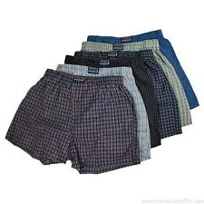 6 Pairs Mens Knocker Assorted Plaid Woven Boxer Shorts Premium Underpants Trunks