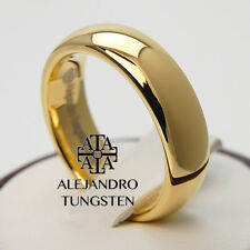 Alejandro Tungsten Carbide Ring 6MM Magnificent 18K Gold Elegant Band TG062