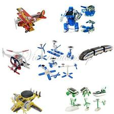 DIY Solar Powered Educational Toy Assemble Kit Robot Plane Car Kid Children Gift