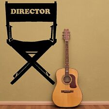 Directors Chair Film Movie Actor Wall Sticker Decor / Design Studio Bedroom R28