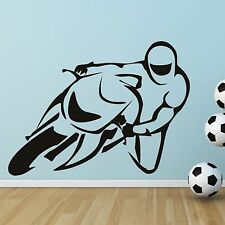 Fast Sport Motor Bike Road Scrambler Cycle Wall Sticker Art Decal Mural Vinyl V3