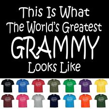 Worlds Greatest Grammy Funny Mothers Day Birthday Christmas Grandma Gift T Shirt