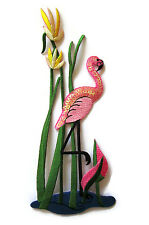 Iron On EMBROIDERED APPLIQUE Sets~Beautiful Tropical Pink FLAMINGOS Water Flower