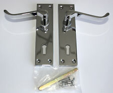 CONTRACT DOOR HANDLES Victorian Scroll Lever Lock-Chrome- 30,15 & 5prs available