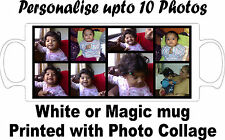 Personalised Collage Photos Colour Changing/wow/magic mug, photo &/or Text Print