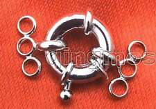 SALE One  Big 18mm Silver Plated ring three strings Clasp-gp162 Free shipping
