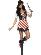 LADIES SEXY FEVER PIRATE FANCY DRESS COSTUME CARRIBEAN WENCH OUTFIT KIERA PARTY