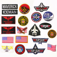 "TOP GUN ""Maverick"" Custom Costume Naval Movie Patch Set, Embroidered Iron-On NEW"