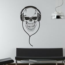Skeleton Headphones Music Skull Wall Sticker / Mural Vinyl Design Graphic Art R4