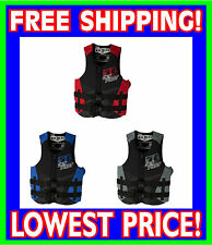 Jet Pilot RECRUIT Neoprene 2014 USCG Approved Life Vest Jacket Blue Red Black