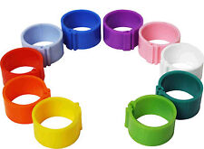 25 x 8 mm Clip On Leg Rings for Chickens, Chick, Quail, Pigeon, Poultry, Bantam