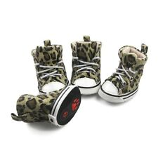NEW Leopard Pattern Cozy Fashion Canvas Boots Shoes For Small-Large Dog Puppy