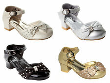 GIRLS DIAMANTE BRIDESMAID PARTY WEDDING SANDALS SHOES UK SIZE 6-2
