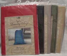 Nylon Laundry Bag with Drawstring Top Solid Colors New