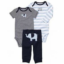 New Carter's 3 Piece Happy Elephant Bodysuits Pant Set NWT 3m 6m 9m 12m 18m 24m