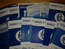 Dundee HOME programmes 1960's and 1970's FREE UK P&P