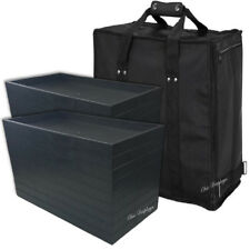 LARGE JEWELRY CARRYING CASE BLACK TRAVEL CASE & JEWELRY TRAYS & LINERS   DEAL!