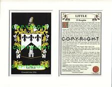 LITTLE to LUCY Family Coat of Arms Crest + History - Mount or Framed