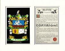 MC ELWAIN to MC GIRR Family Coat of Arms Crest + History - Mount or Framed