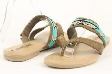 NEW MINNETONKA MULTI SZ 'LEXIE' TAUPE BEADED THONG SANDALS SHOES