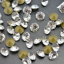Crystal Clear Rhinestones Point back Glass Chaton Strass Glass Nail Art Stone U1
