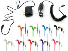 STANDARD HOME WALL + CAR CHARGER + 3.5MM STEREO EARPHONE HEADSET DELL VENUE PRO
