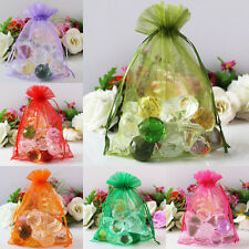 50x Large Size Sheer Organza Bags Jewelry Pouches Wedding Party Favor Gifts